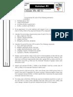 Worksheet#1