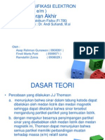 Presentasi Muatan Spesifikasi Elektron E_m