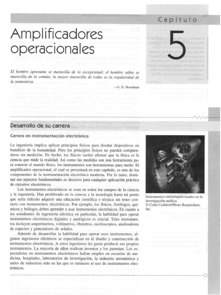 Capitulo 05 - Amplificadores Operacionales