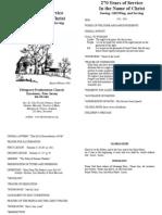 September 18 2011 Bulletin