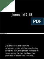 Preaching presentation James 1:12-18