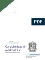 Caracterización Módulo FV