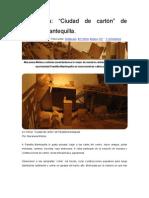 En Vitrina- _Ciudad de cartón_ de Pandilla Mantequilla