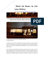 En Vitrina- Bienal Del Whitney