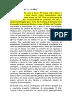 O LEITOR E O TEXTO LITERÁRIO