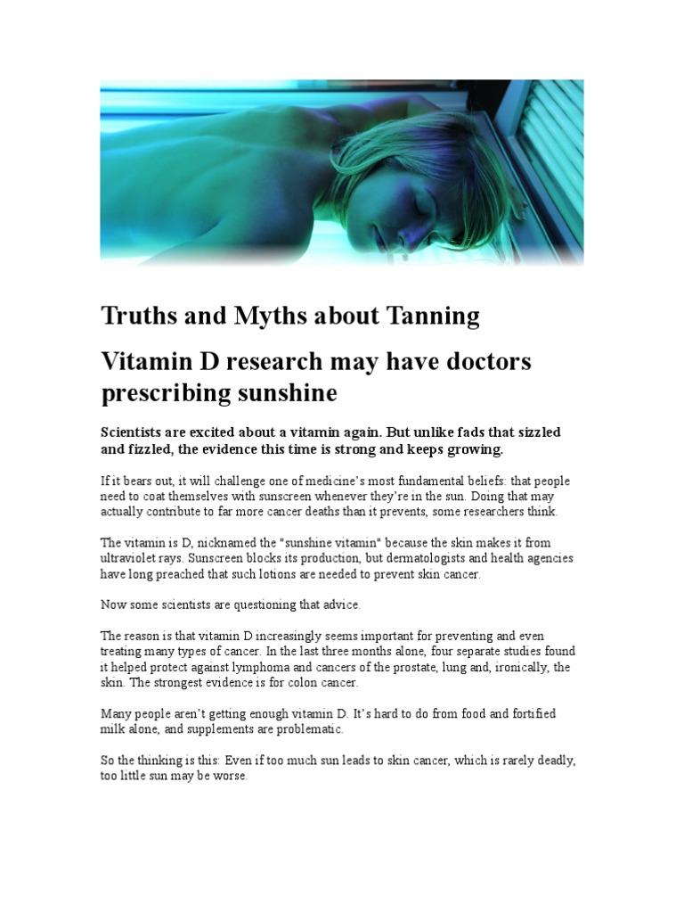 Suntan 1   Vitamin D   Ultraviolet