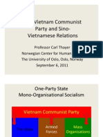 Thayer The Vietnam Communist Party and Relations with China