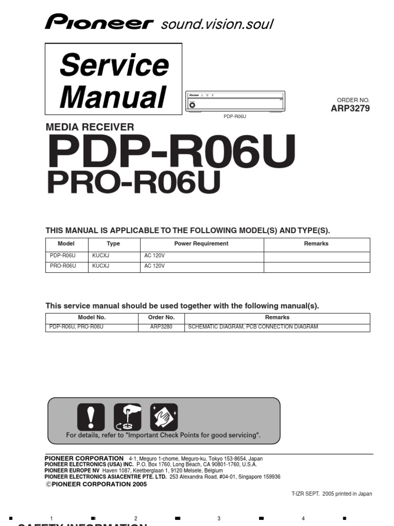 7485658-Pioneer Pdp-r06u Pro-r06u Media Receiver Service Manual | Inductor  | Electrical Connector
