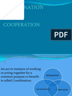 Coordination and Cooperation