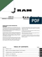 2012 Ram Diesel Supplement Owners Manual