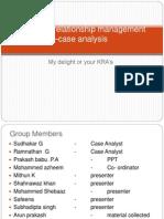 Customer relationship management –case analysis