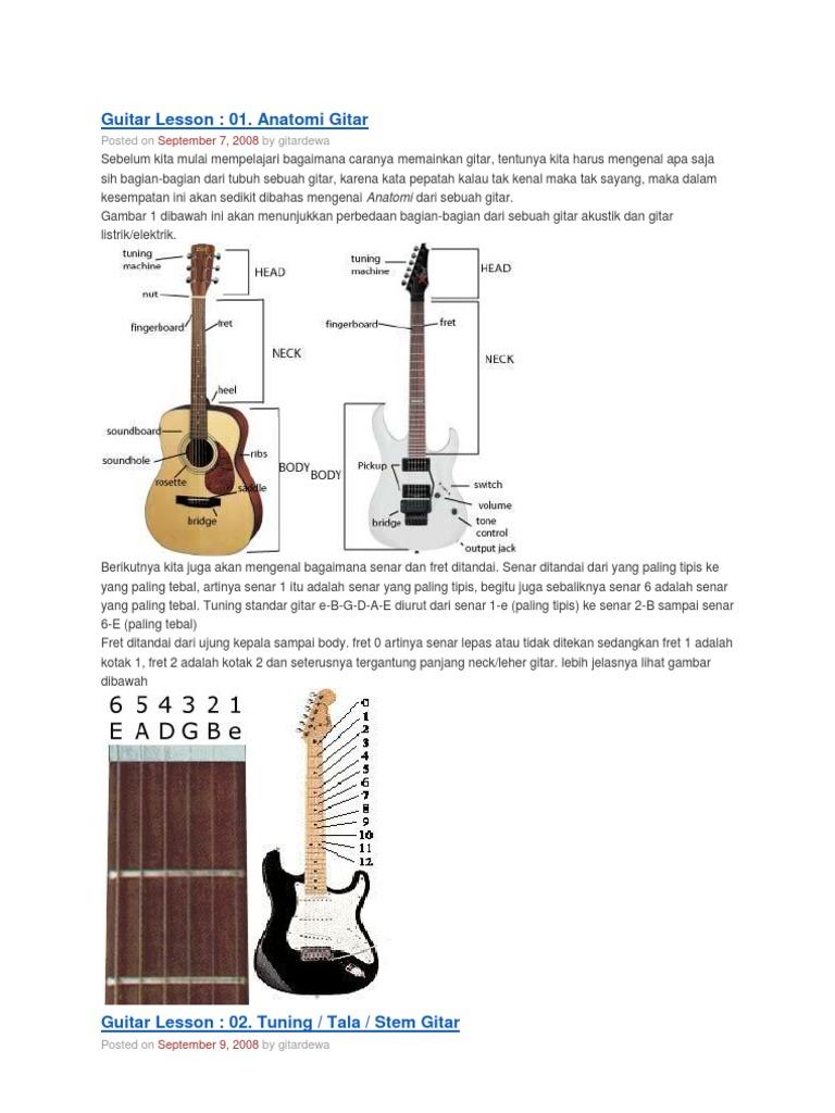 Gambar Gitar Dan Kuncinya - Gambar Gitar