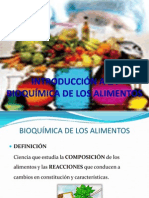 introducción a la bioquímica de los alimentos