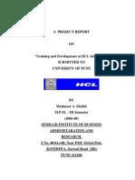Training & Development at HCL Info System by Mudassar Sheikh