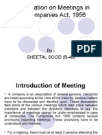Presentation on Meetings in the Companies Act,