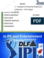 IPL –ENTERTAINMENT OR SPORTS final ppt 2
