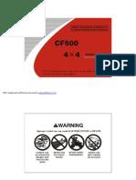 CF500 Owner s Manual