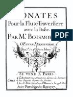 J.B. de Boismortier  -  VI Flute Sonatas Op. 19