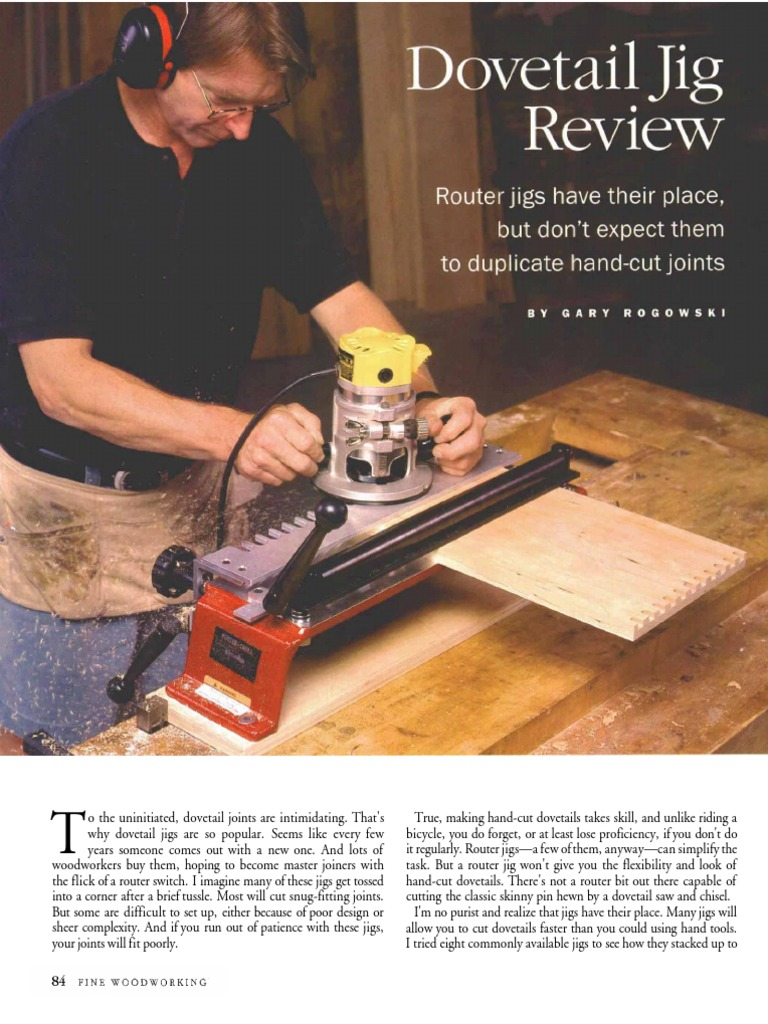 134-084 - Dovetail Jig Review | Wood | Woodworking