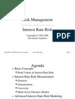 Risk Management > Interest Rate Risk