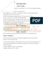 9th Math Ch Triangle Test Paper