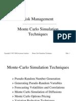 Risk Management > Simulation & Valuation Techniques