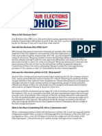 What is Fair Elections Ohio and FAQ About Repeal of HB 194