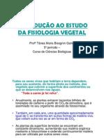 IntroduçãoFisiologiaVegetal