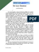 Ion Luca Caragiale - Monografie