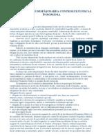 Organizarea Si Desfasurarea Controlului Fiscal in Romania
