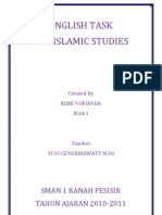 English Fo Islamic Studies