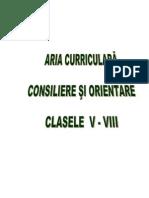 Model Planificare Consiliere Si Orientare_V_VIII