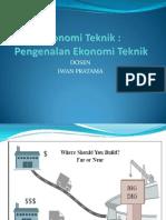 Ekonomi Teknik PPT - Iwan