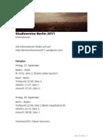 Studienreise Berlin 2011 - Programm