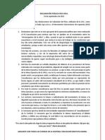 Declaración Pública MUI Upla - Ante los dichos de Sebastián del Pino en Radio Agricultura