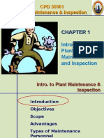 Plant Maintenance and Inspection Chapter 1