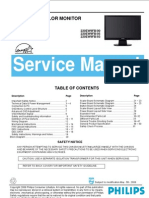 Philips LCD Monitor 220EW9FB service manual