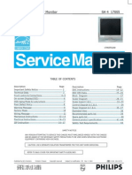 Philips LCD Monitor 170S5,Chassis SH4 service manual