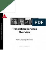 ALTA - Translation Services Overview