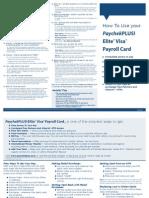 Paychekplus Elite Visa Payroll Card
