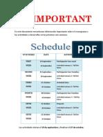 Actividades y cronograma