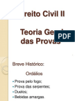 Direito Civil II - Teoria Geral Das Provas