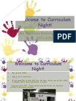 Curriculum Night 2011-2012
