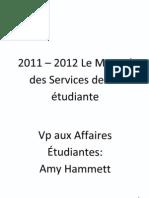 2011-2012 Le Manuel des Services de vie étudiante