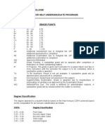 HUC Program Grading Scheme