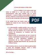 Carta de Correa de Andreís a Uribe Velez