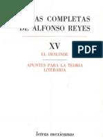 Reyes, Alfonso. Obras Completas XV
