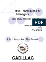 Quantative Techniques for Managers