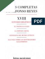 Reyes, Alfonso. Obras Completas XVIII
