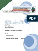 Sistemas de Riego Regulados Construidos en El Peru